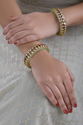 Kundan Bangle (Set of 2)