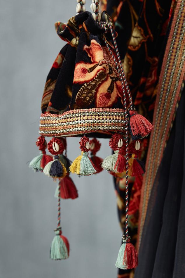 Silk Velvet Potli Bag