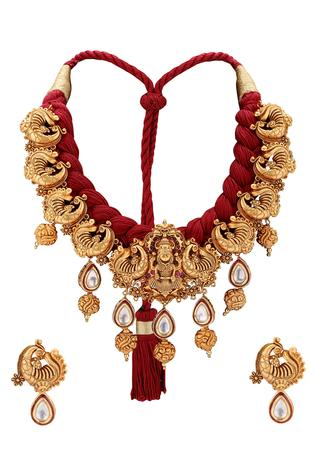Antique Temple Jewellery Set