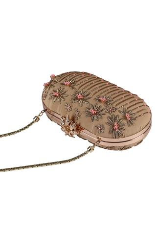 Embellished Oval Clutch
