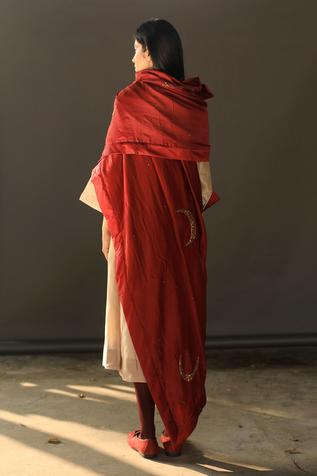 Embroidered Chanderi Stole