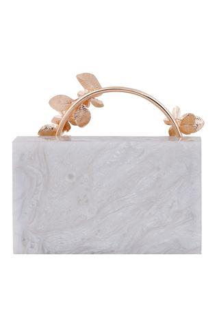 Be Chic Floral Embellished Box Clutch