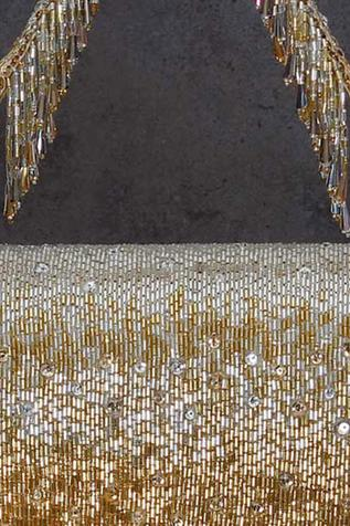 Eclat Crystal Embellished Flapover Clutch