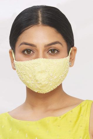 Floral Embroidered Lace Face Mask (Single Pc)