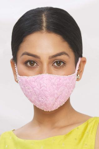 Chikankari Embroidered Face Mask (Single Pc)