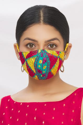 Phulkari Embroidered Face Mask (Single Pc)