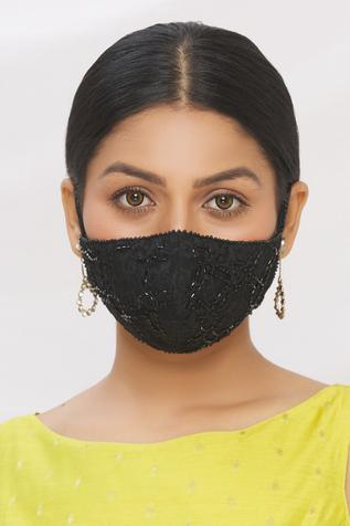 Lace Embroidered Face Mask (Single Pc)