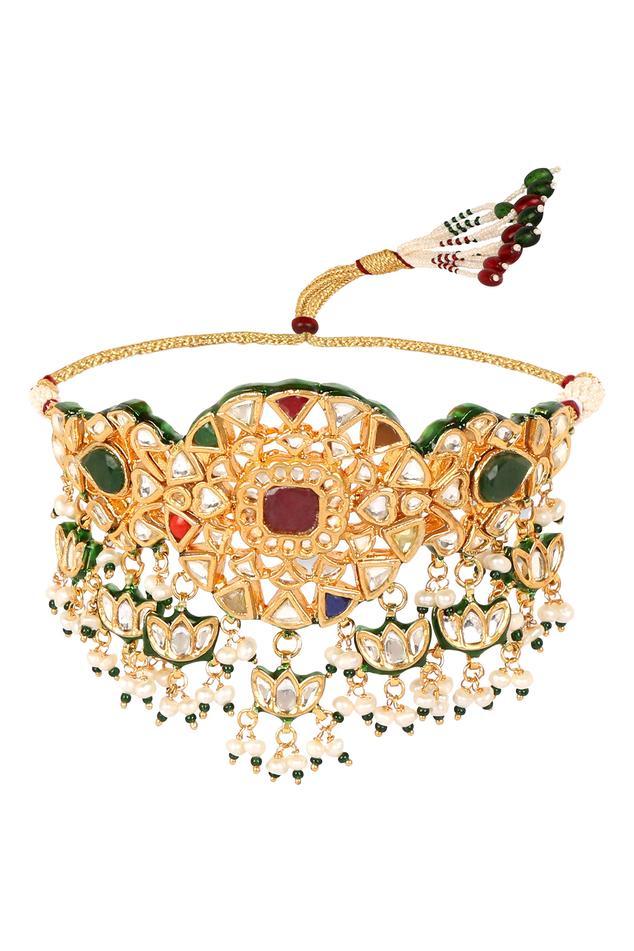 Padmini Meenakari Floral Choker Set
