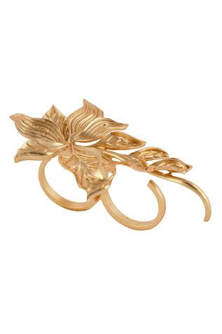 Opalina Soulful Jewellery Handcrafted Two-Finger Floral Ring