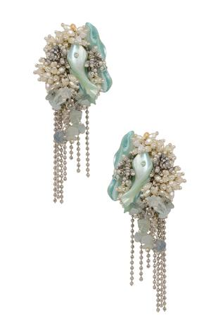 Bead Tassel Statement Studs