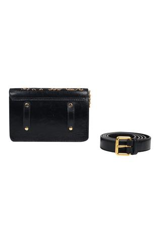 The Leather Garden Gayatri Floral Flap Bag with Sling