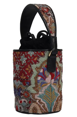 The Leather Garden Razia Bucket Bag with Sling