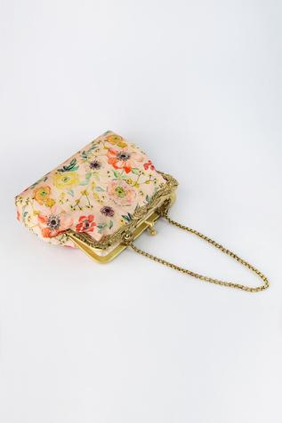 Bagh Floral Print Clutch with Sling