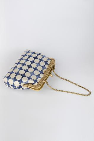 Jaali Printed Clutch with Sling