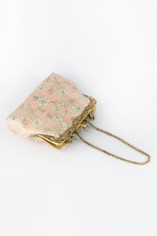 Floral Print Clutch with Sling