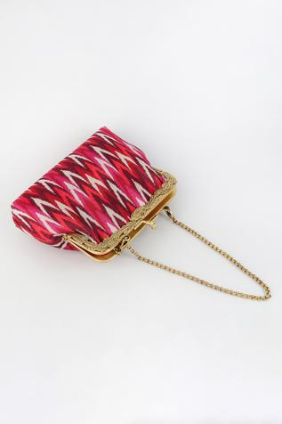 Ikat Print Clutch with Sling