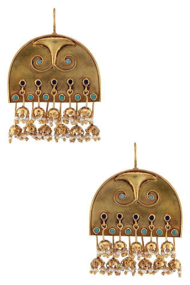 Gold Plated Manjari Earrings
