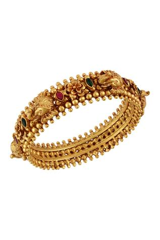 Handcrafted Temple Bangle (Single Pc)