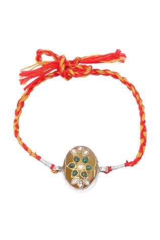 Handcrafted Floral Stone Rakhi