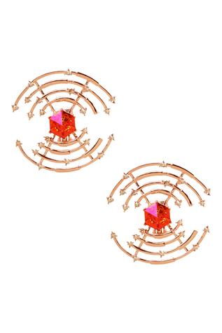 Esme by Aashna Dalmia Round Structured Earrings