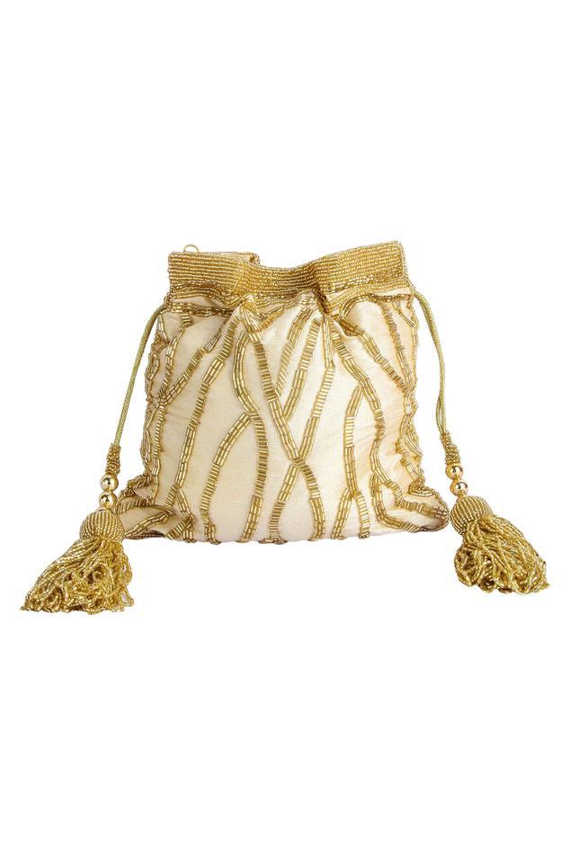A Clutch Story Silk Embroidered Potli Bag
