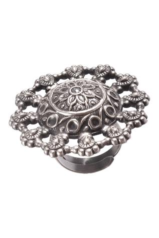 Noor Handcrafted Oxidized Ring