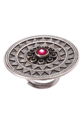 Noor Handcrafted Oxidized Sun Ring