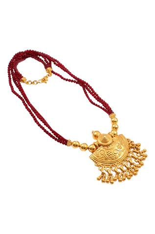 Noor Handcrafted Carved Pendant Necklace