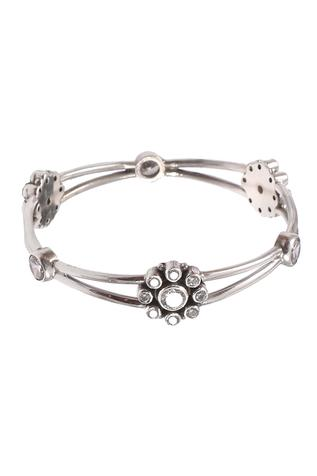 Noor Handcrafted Floral Stone Bangle