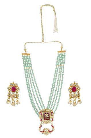 Auraa Trends Multistrand Beaded Necklace Set