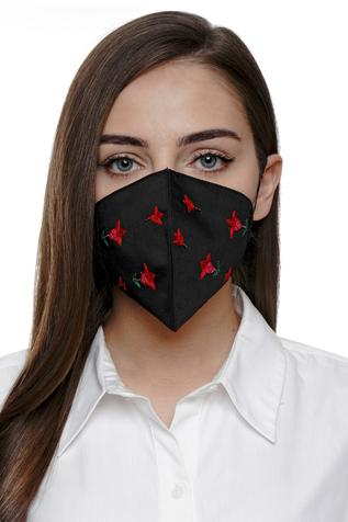 Tulip Embroidered Mask (Single Pc)