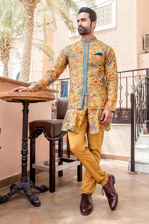 Floral Nehru Jacket Mens: Buy Floral Nehru Jacket Mens Online - Aza Fashions