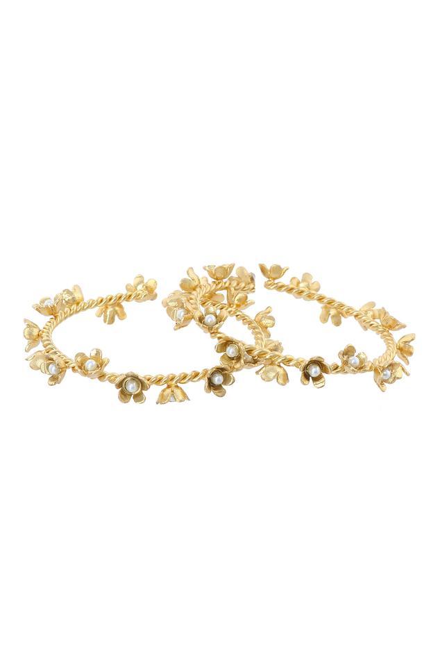 Floral Bead Bangles (Set of 2)