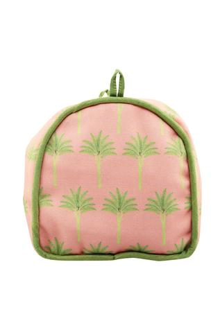 Peach banyan groove travel pouch