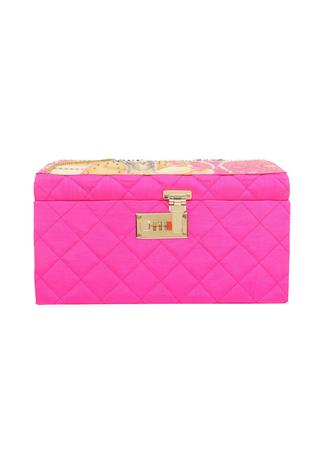 Pink faux crystal embellished trunk