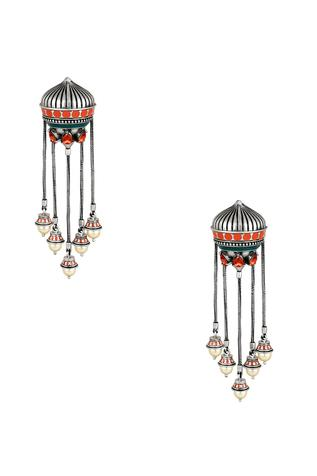 Amrapali mughal garden dangling earrings