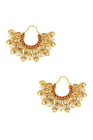 Tarun Tahiliani Tarakanna Hoop Earrings