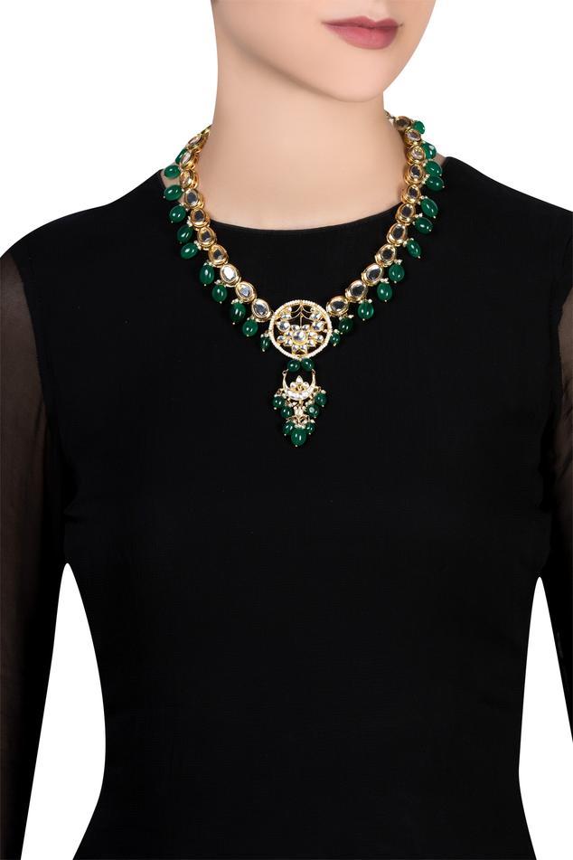 Kundan tie-up necklace