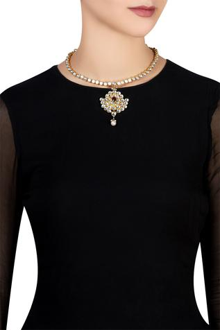 Kundan & red stone necklace