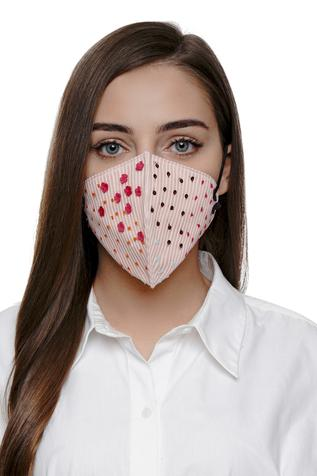 Floral Embellished Mask (Single Pc)