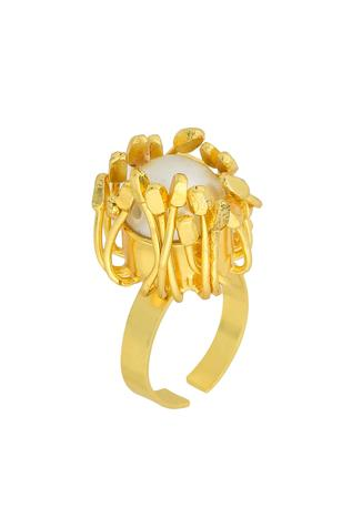 Fusio Floral Bead Ring