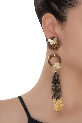 Gold plated uncut earrings
