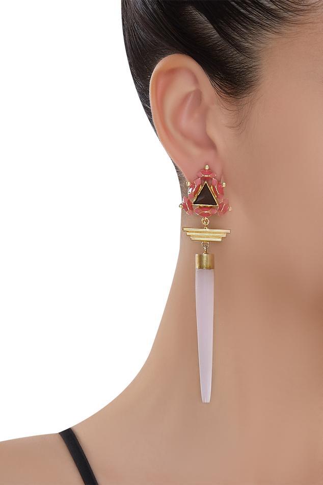 Madiha Jaipur 3D Pyramid Earrings
