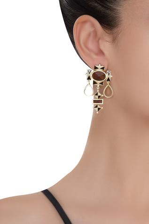 Geometric Gold Plated Earrings