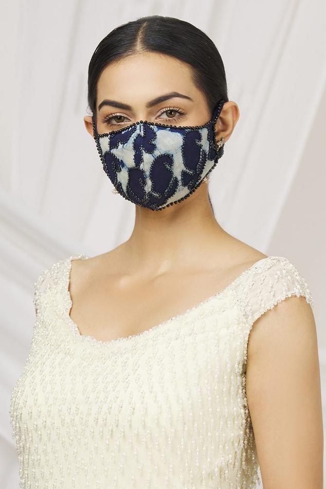 Silk Chanderi Kalamkari Face Mask (Single Pc)