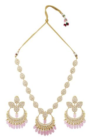 Kundan Long Pendant Necklace Set