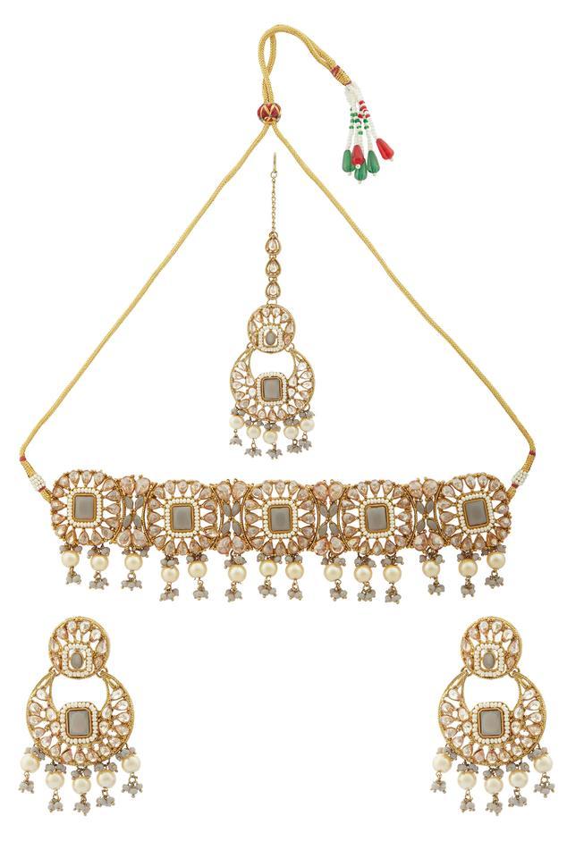 Moh-Maya by Disha Khatri  Bead Drop Choker Set