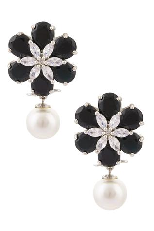 Chaotiq By Arti Floral Bead Drop Earrings