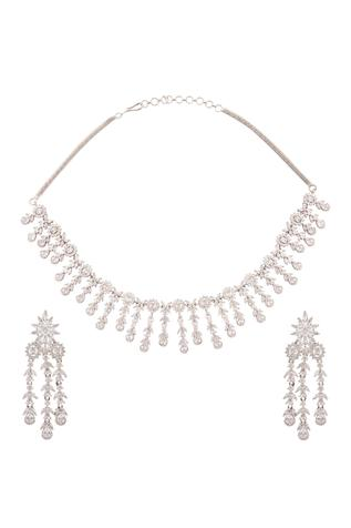 Chaotiq By Arti Handcrafted Stone Necklace Set