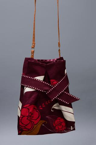 Floral Print Potli with Sling